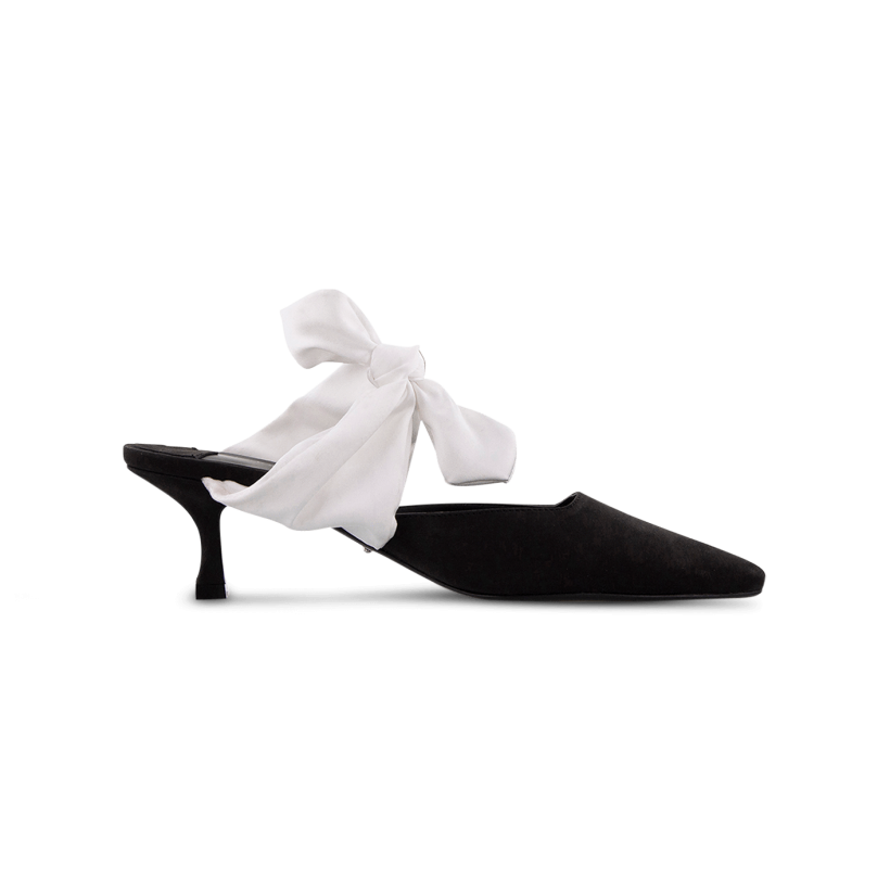 Bakari Black Phoenix/Ivory Heels by Tony Bianco Shoes