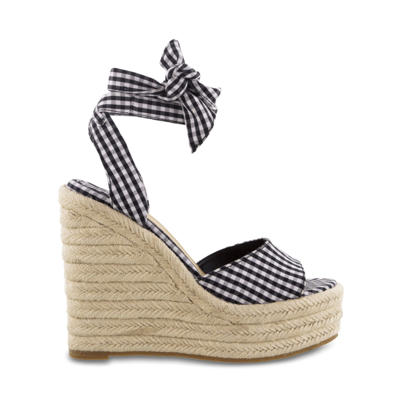 Barca Black/White Gingham Wedges by Tony Bianco Shoes