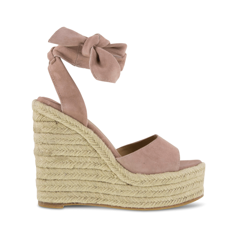 f376ad57 Barca Blush Kid Suede Wedges - Blush Kid Suede Sandals by Tony Bianco |  ShoeSales