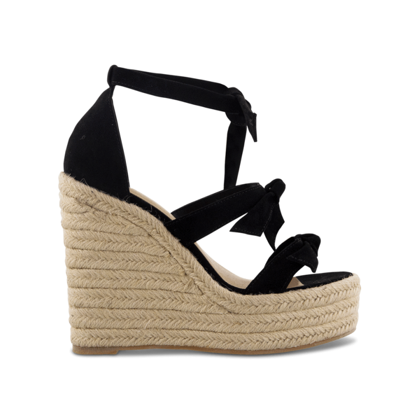 TONY BIANCO - Barney Black Kid Suede Wedges by Tony Bianco Shoes