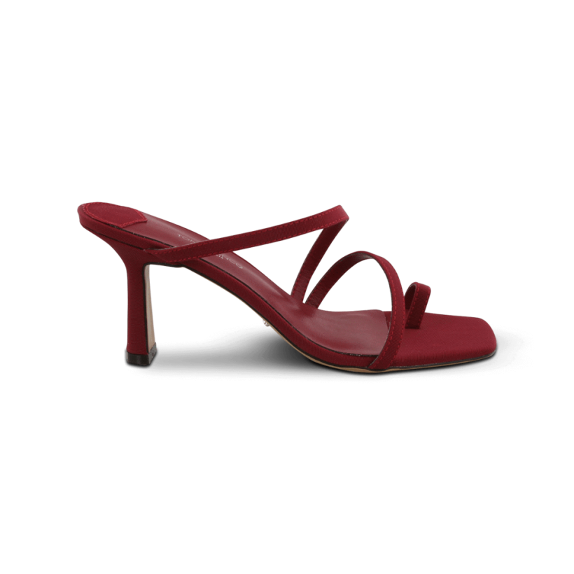 Blossom Burgandy Grosgrain Heels by Tony Bianco Shoes