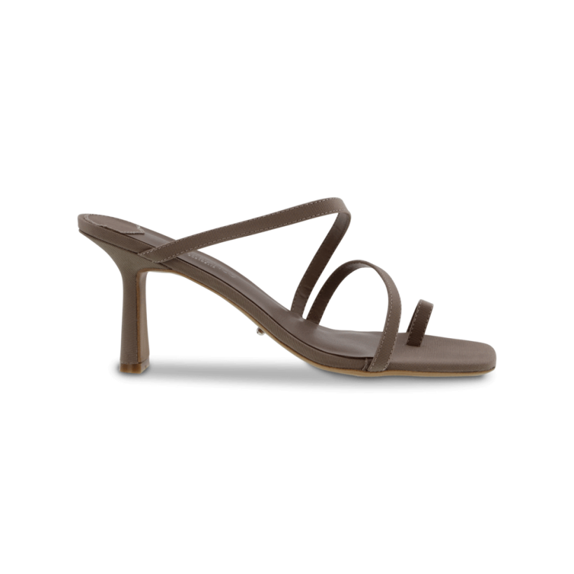 Blossom Grey Grosgrain Heels by Tony Bianco Shoes
