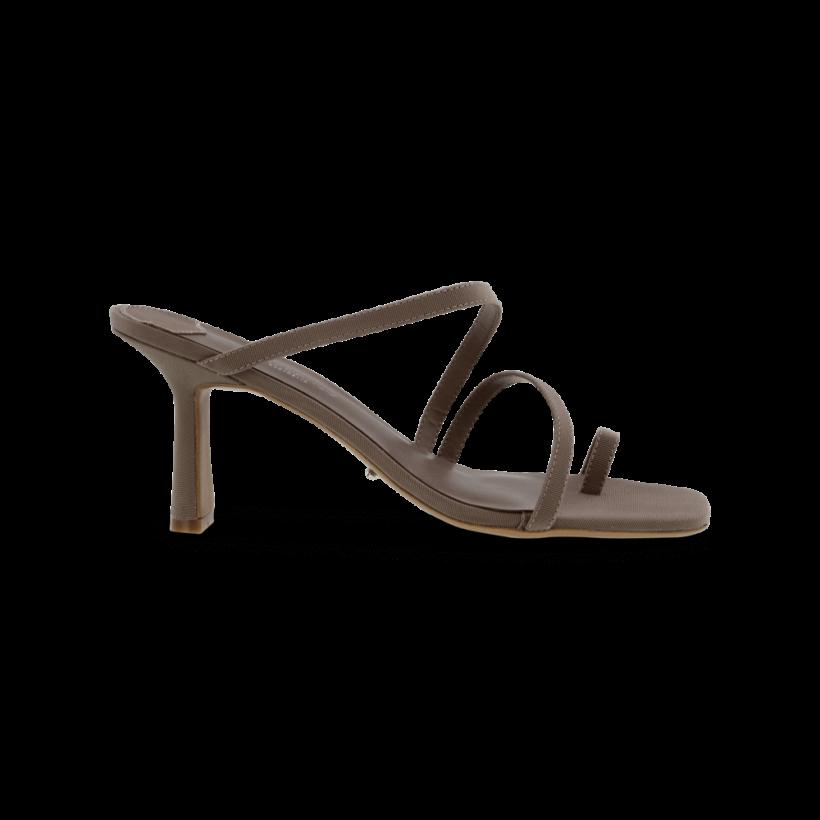 Blossom Grey Grosgrain Heels by Tony Bianco Shoes