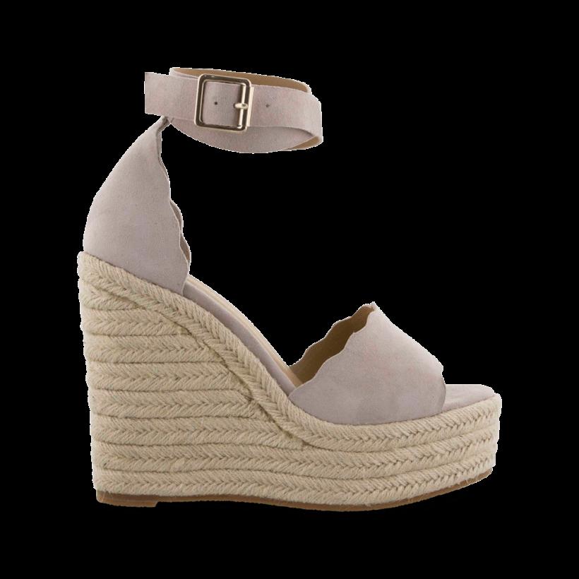 - - Brandi Ochre Kid Suede Wedges by Tony Bianco Shoes