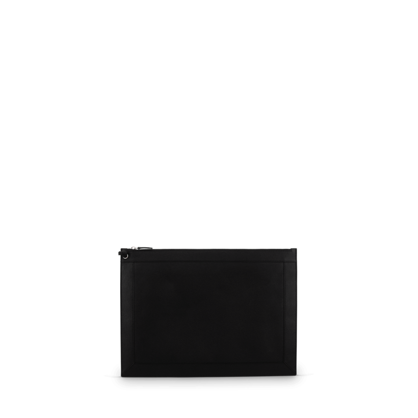 Carey Black Leather Clutch Bag by Tony Bianco Shoes