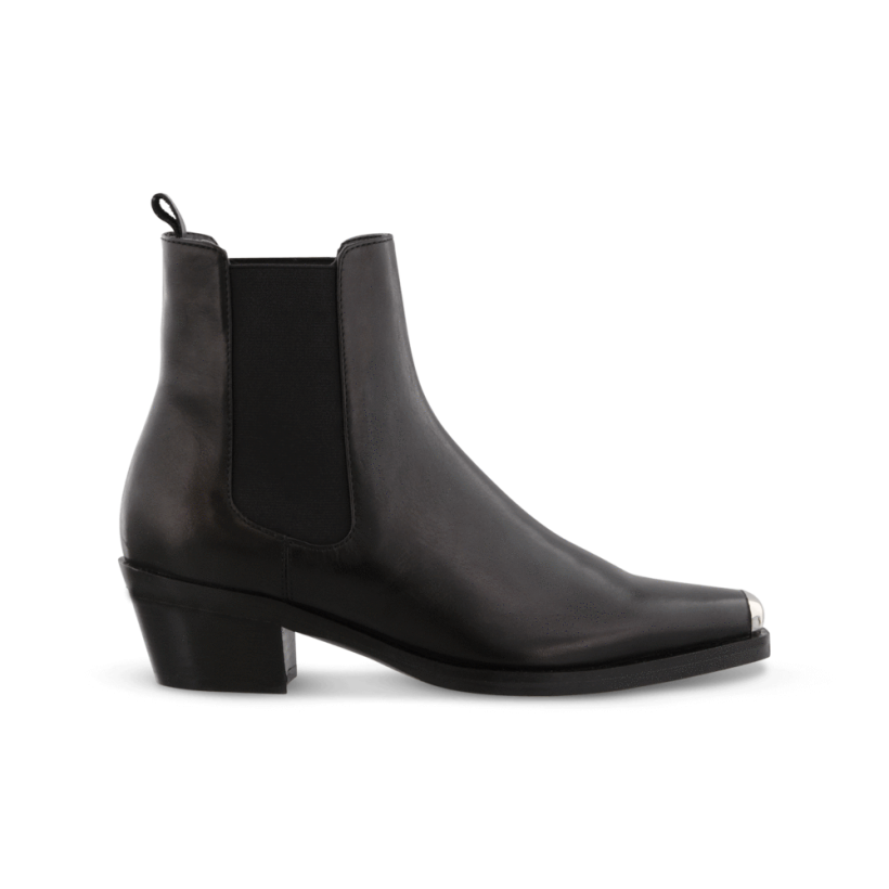 Derek Black Hi Shine Ankle Boots by Tony Bianco Shoes