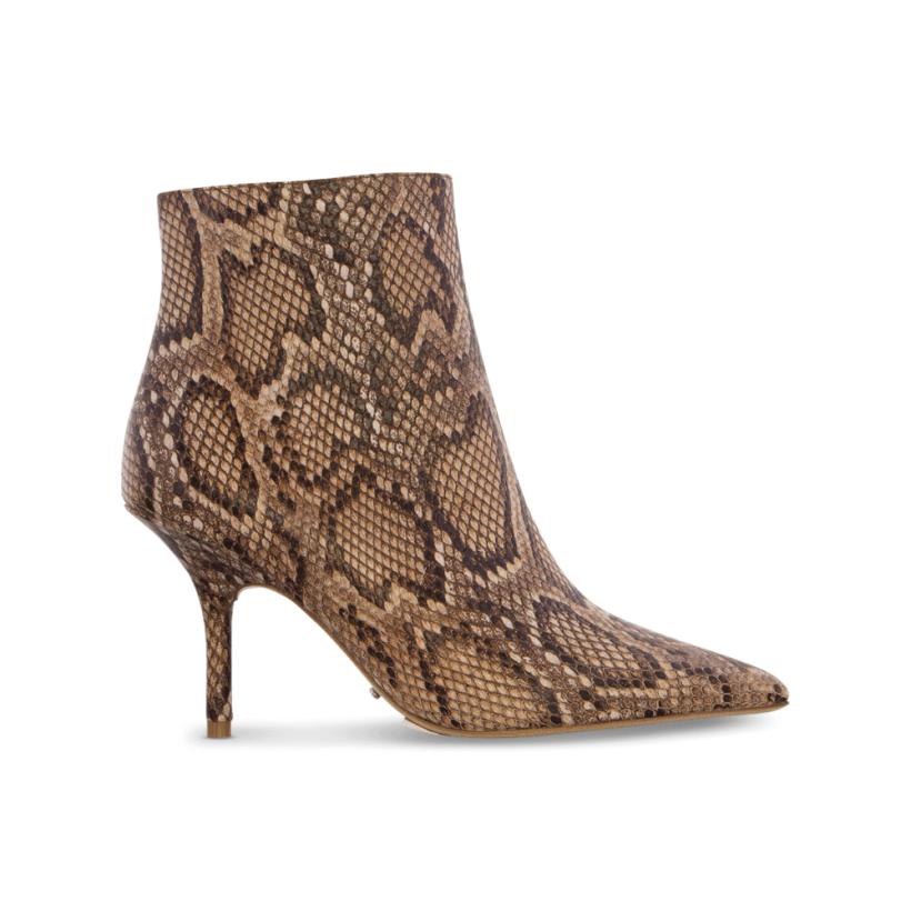 Elia Brown Multi Snake Ankle Boots by Tony Bianco Shoes