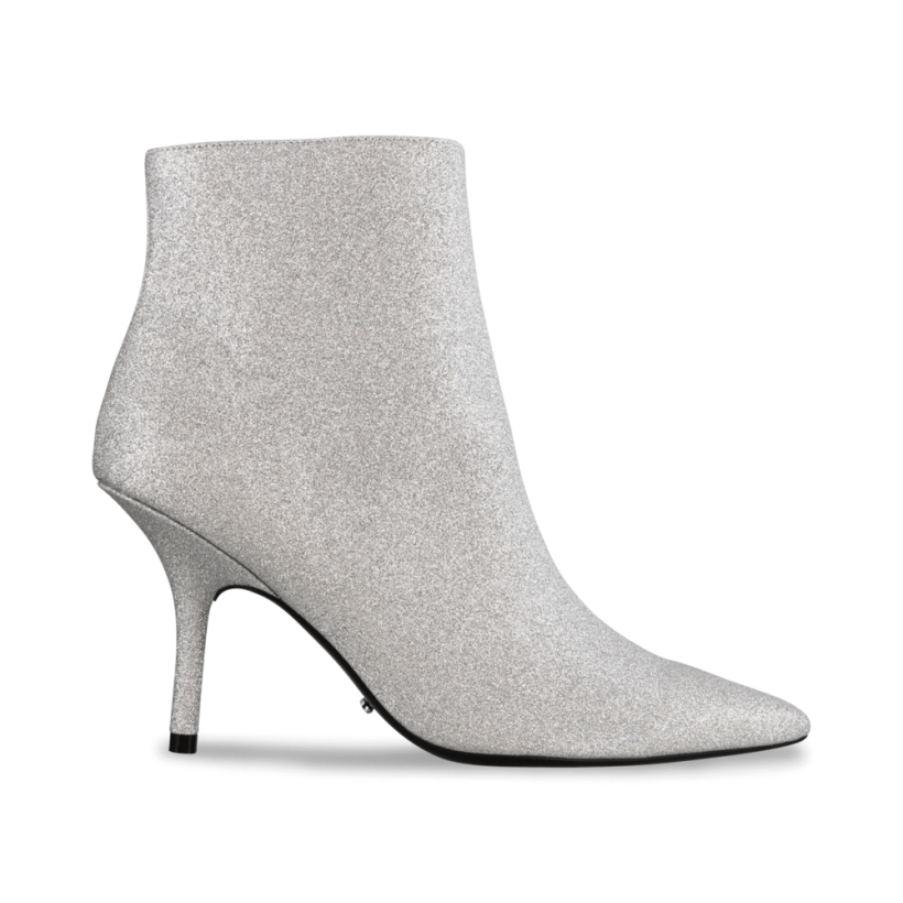 Elia Silver Glitter Ankle Boots by Tony Bianco Shoes