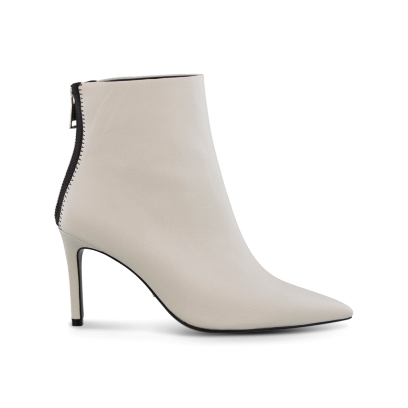 Esha Milk Capretto Ankle Boots by Tony Bianco Shoes