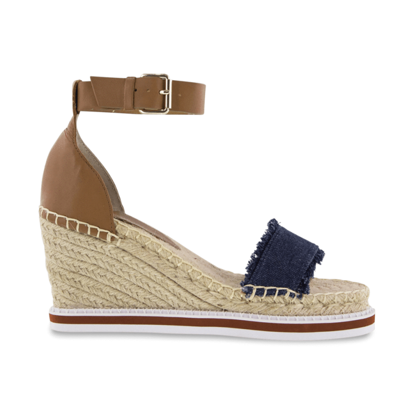 TONY BIANCO - Espy Indigo Denim/Tan Monaco Wedges by Tony Bianco Shoes