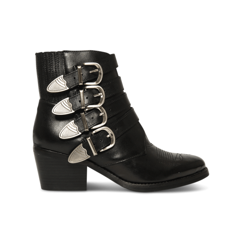 Frenchy Black Jetta Polish Ankle Boots by Tony Bianco Shoes