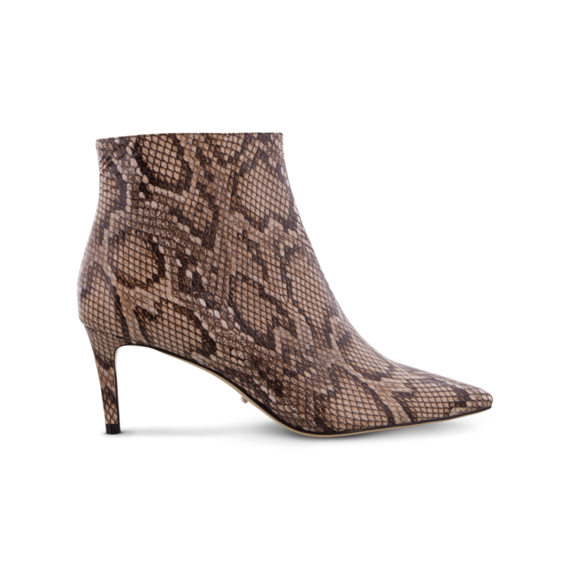 Gessy Brown Multi Snake Ankle Boots by Tony Bianco Shoes