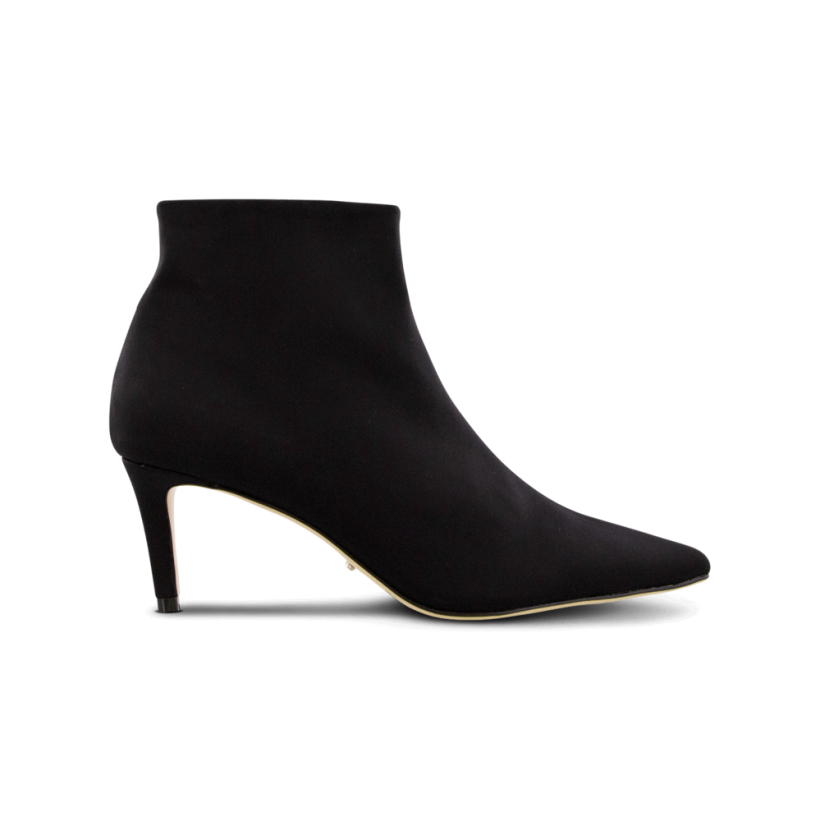Getti Black Lycra Ankle Boots by Tony Bianco Shoes
