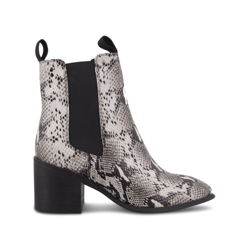 Hampton Natural Snake Ankle Boots by Tony Bianco Shoes