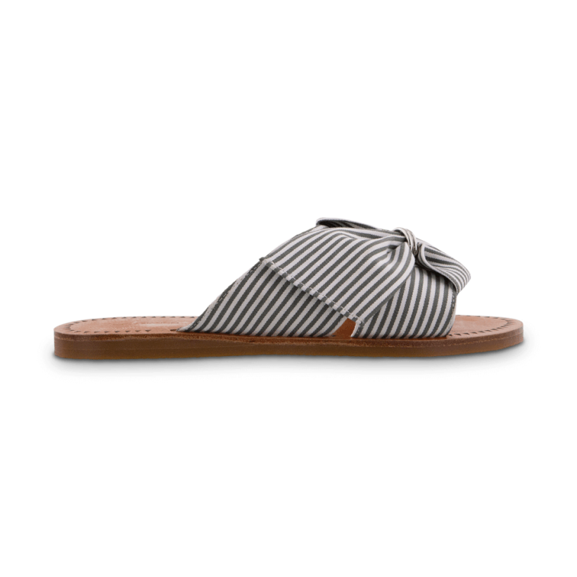 TONY BIANCO - Happy Olive/White Stripe Flats by Tony Bianco Shoes