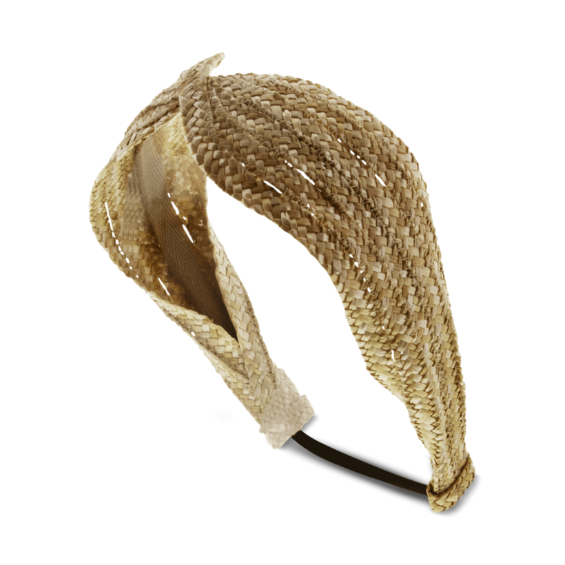 Hazel Natural Straw Headband by Tony Bianco Shoes