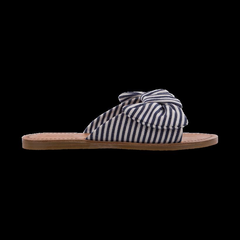 TONY BIANCO - Herbie Navy/White Havana Flats by Tony Bianco Shoes