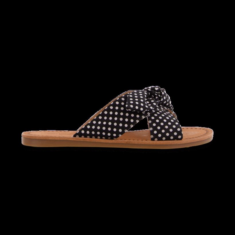 TONY BIANCO - Hollie Black/White Spot Flats by Tony Bianco Shoes