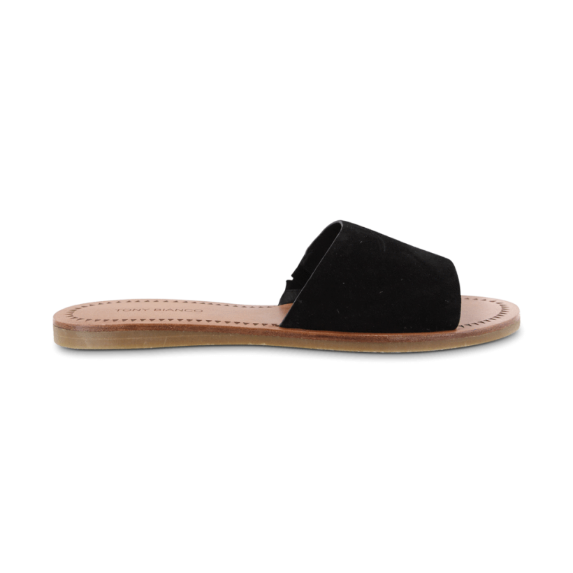 TONY BIANCO - Hotski Black Kid Suede Flats by Tony Bianco Shoes