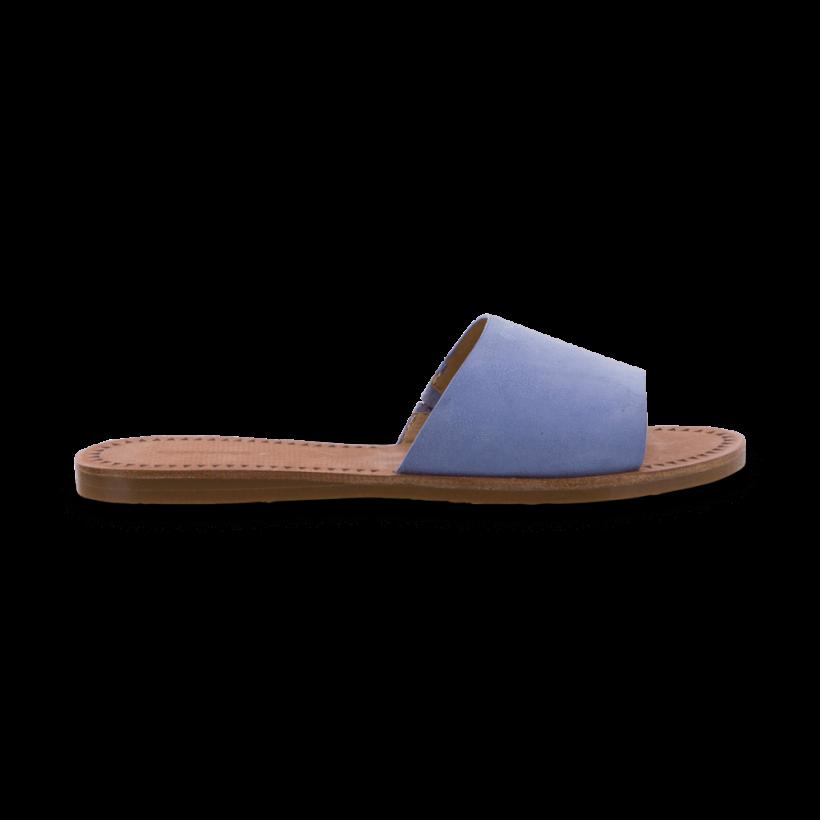 TONY BIANCO - Hotski Dusty Blue Kid Suede Flats by Tony Bianco Shoes
