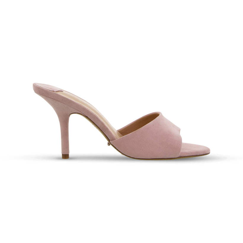 Dusty Pink Kid Suede - Izzey Dusty Pink Kid Suede Heels by Tony Bianco Shoes