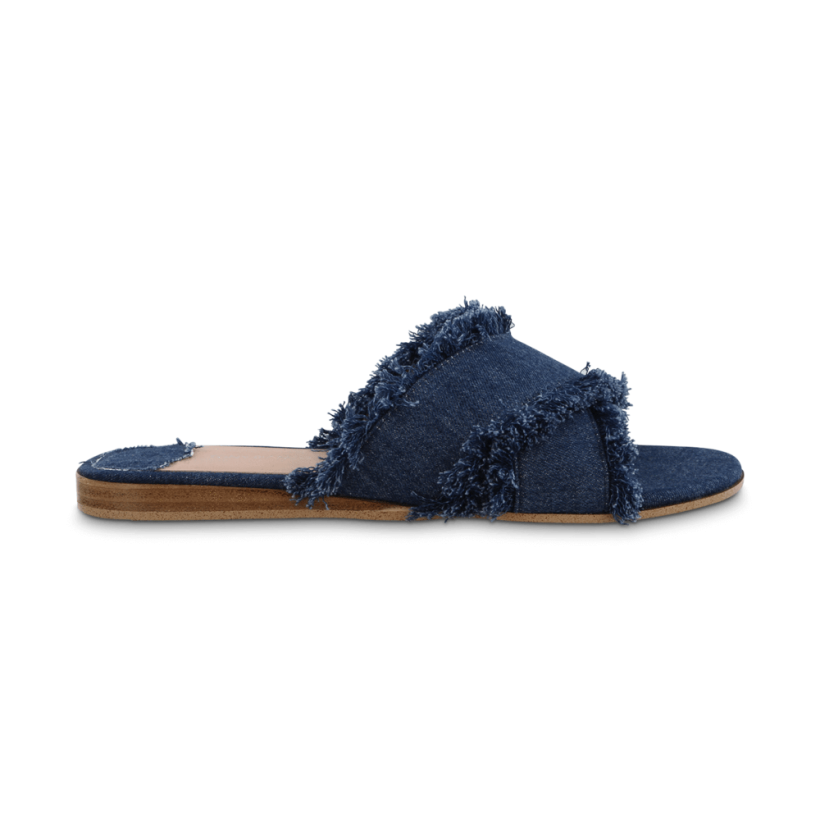 Jacques Indigo Denim Flats by Tony Bianco Shoes
