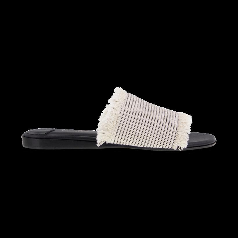 Jayd White/Black Osaka Flats by Tony Bianco Shoes