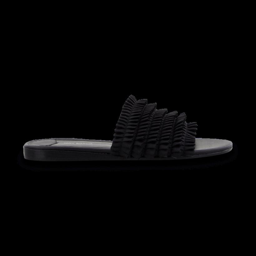 Jerzy Black Grosgrain Flats by Tony Bianco Shoes