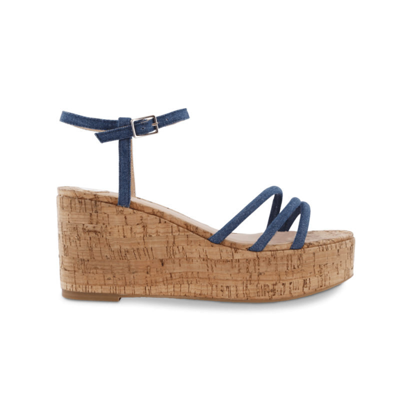 Jojo Indigo Denim Wedges by Tony Bianco Shoes