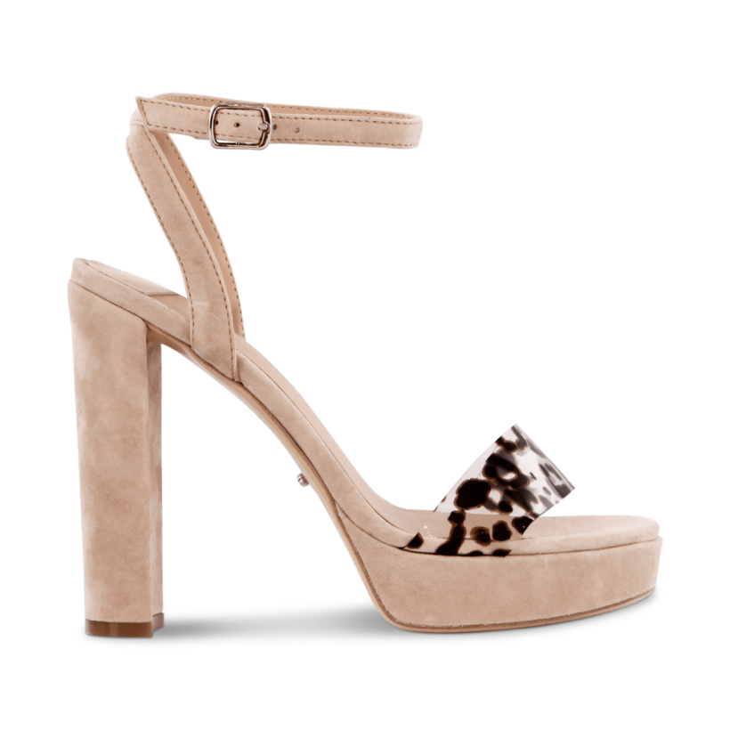 Luela Blush Kid Suede/Leopard Vynali Heels by Tony Bianco Shoes