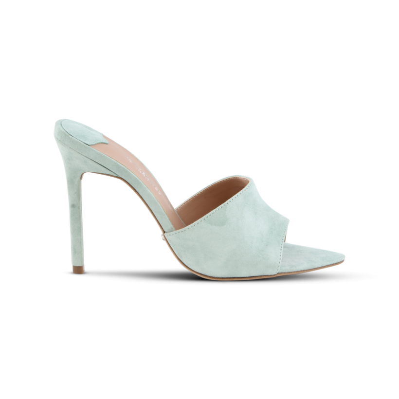 Marley Mint Kid Suede Heels by Tony Bianco Shoes