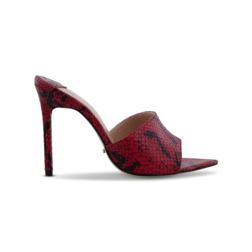 TONY BIANCO - Marley Red/Black Snake Heels by Tony Bianco Shoes