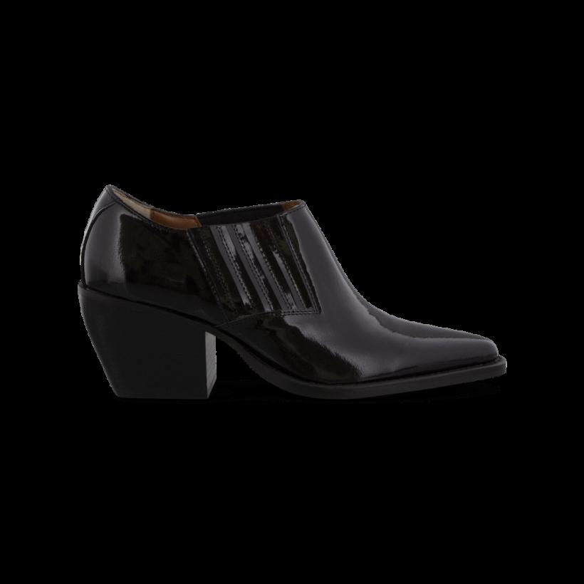 Paris Black Hi Shine Ankle Boots by Tony Bianco Shoes