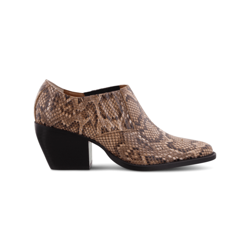 Paris Brown Multi Snake Ankle Boots by Tony Bianco Shoes