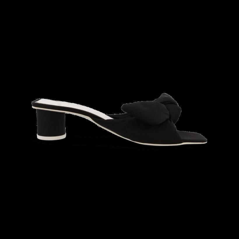 Phoebe Black Puff Nylon Heels by Tony Bianco Shoes