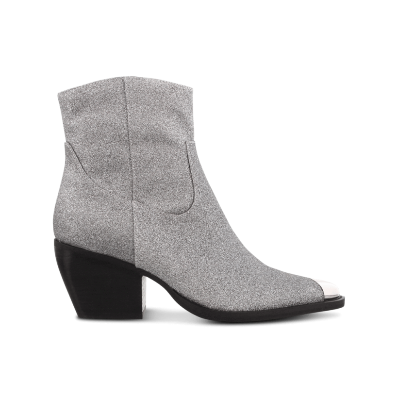 Presley Gunmetal Glitter Ankle Boots by Tony Bianco Shoes