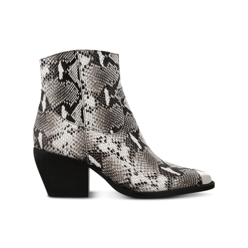 Presley Natural Snake Ankle Boots by Tony Bianco Shoes