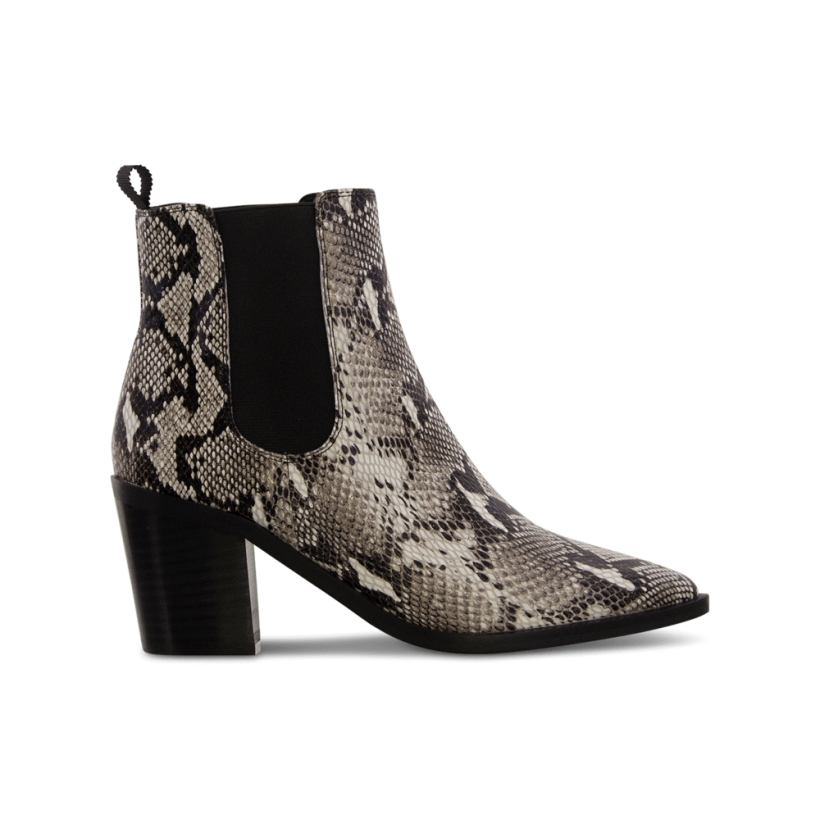 Sabrine Natural Snake Ankle Boots by Tony Bianco Shoes