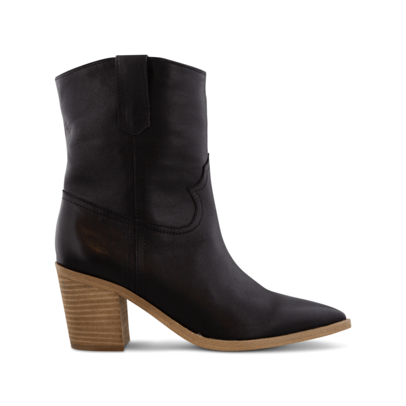 Scout Black Luxe/Sand Ankle Boots by Tony Bianco Shoes