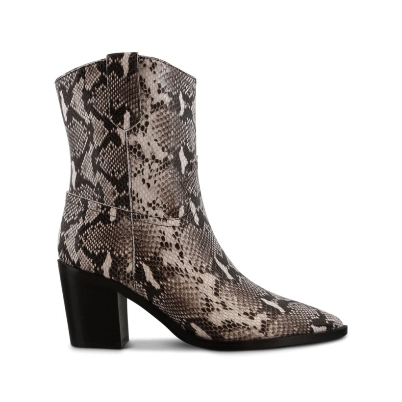 Scout Natural Snake Ankle Boots by Tony Bianco Shoes