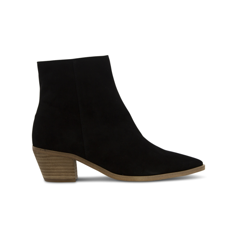 Teja Black Kid Suede Ankle Boots by Tony Bianco Shoes