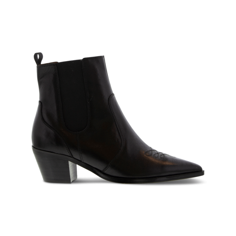 Troi Black Como Ankle Boots by Tony Bianco Shoes