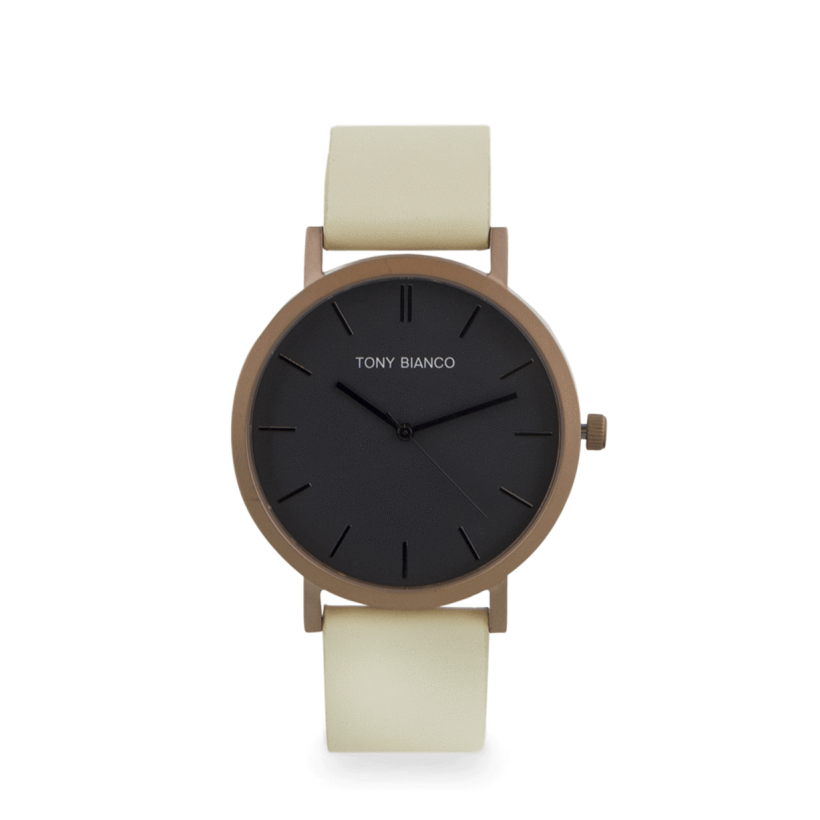 Watkins Matt Rose Gold/Lemon Watch by Tony Bianco Shoes