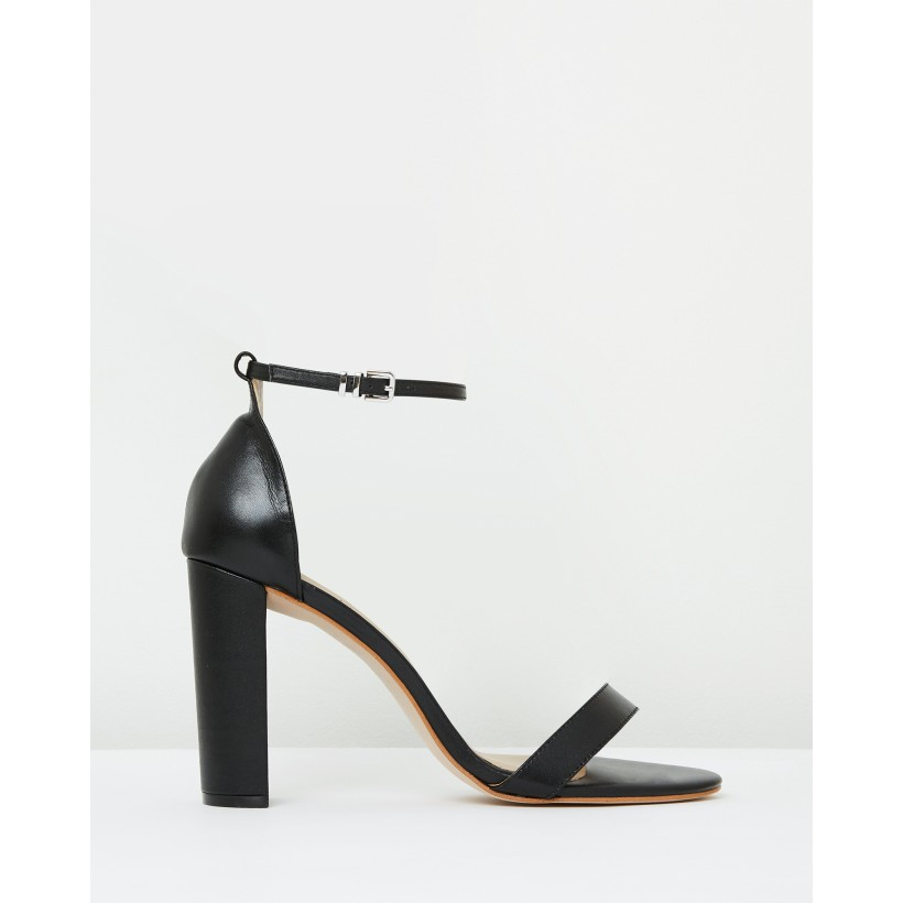 Emma Sandal Black Leather by Mode Collective