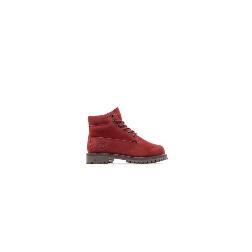 Dark Red Nubuck - Kids 6-Inch Premium Waterproof Boot Https://Www.Timberland.Com.Au/Shop/Sale/Kids/Footwear Shoes by Timberland