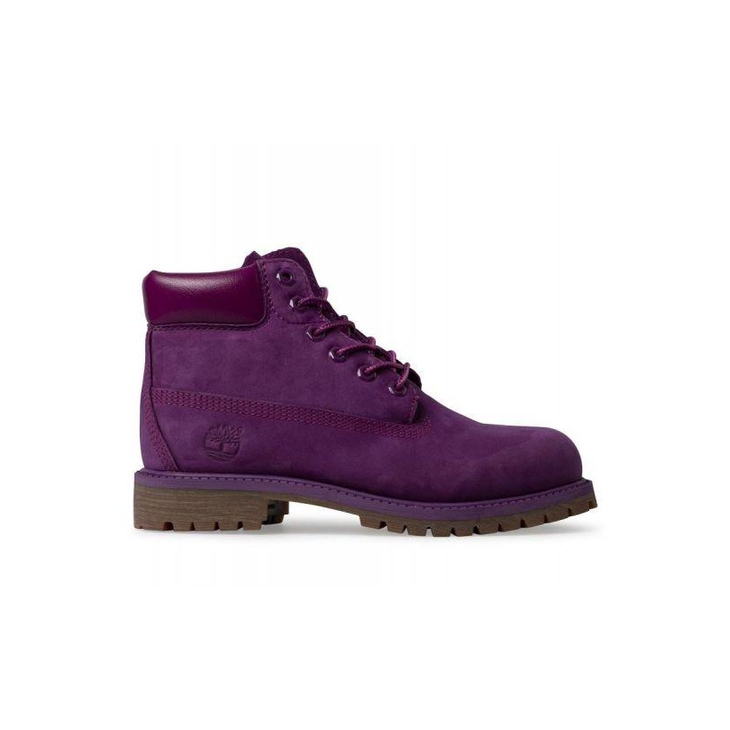 Bright Purple Nubuck - Kids 6-Inch Waterproof Boot Kids Footwear Shoes by Timberland