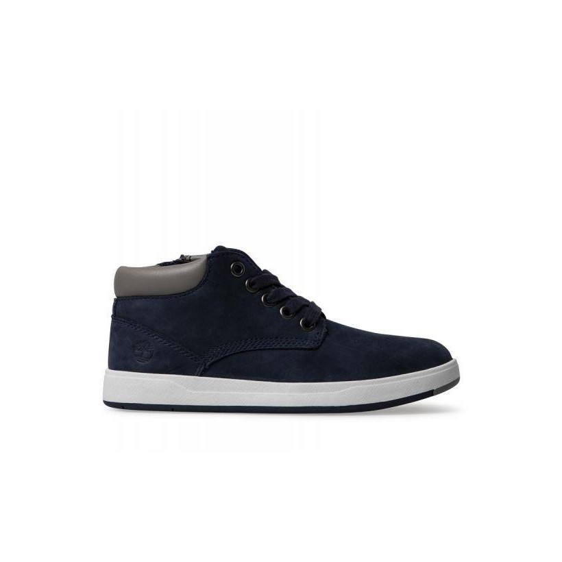 63a1271ee22 Navy Nubuck - Kids Davis Square Leather Chukka Kids Footwear Shoes by  Timberland
