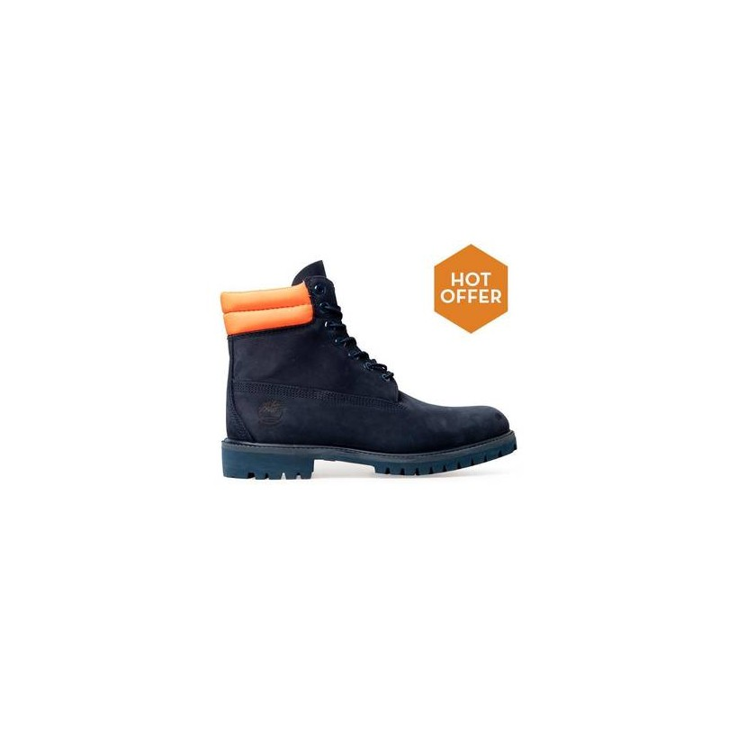 Black Iris Waterbuck w/ Nylon - Men's 6-Inch Double Collar Boot Mens Shoes by Timberland