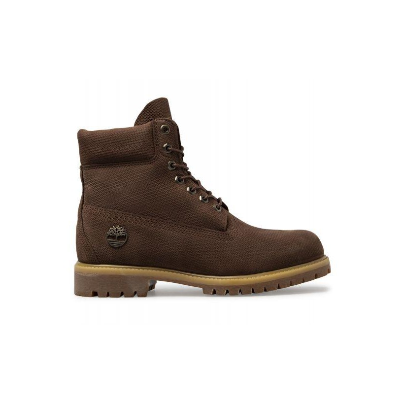 Dark Brown Nubuck - Men's 6-Inch Icon Premium Boot Mens Boots Shoes by Timberland