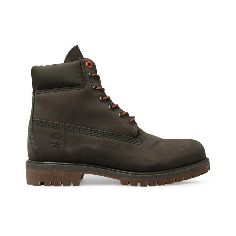 Dark Green Nubuck - Men's 6-Inch Premium Boot Mens Boots Shoes by Timberland